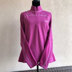 Mountain Hardwear Pink Fleece Pullover Textured L